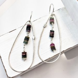 Earrings – Sterling Silver – Tourmaline