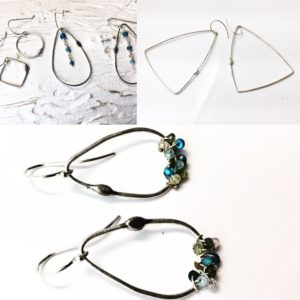 Gemstone Earrings – Sterling Silver